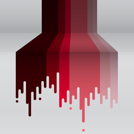 dripping paint: Dripping paint. Vector illustration.