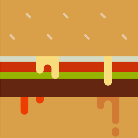 dripping paint: Dripping paint hamburger. Vector illustration. Illustration