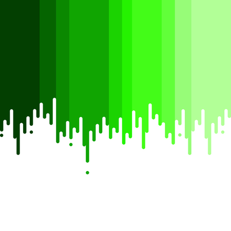dripping paint: Dripping paint. Shades of green. Vector illustration.