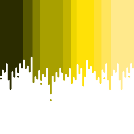 yellow vector: Dripping paint. Shades of yellow. Vector illustration.