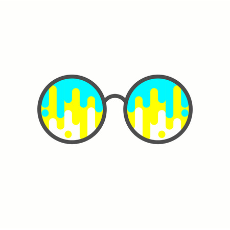 dripping paint: Dripping paint glasses. Vector illustration. Illustration