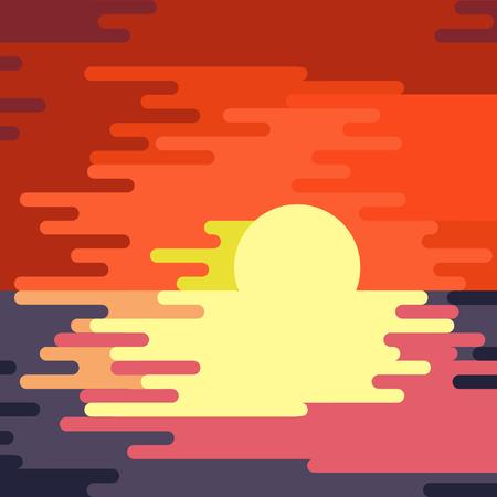 dripping paint: Sunset dripping paint abstract. Vector illustration. Illustration