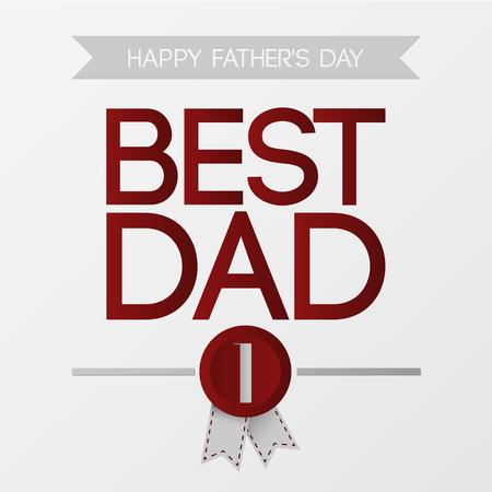 best dad: Fathers day. Best dad. Vector illustration. Illustration