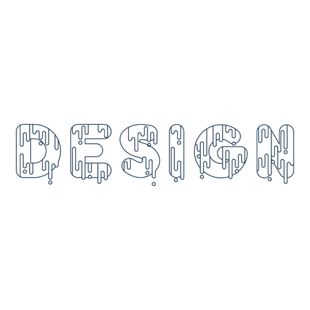 dripping paint: Design. Bubble font with dripping paint. Vector illustration. Illustration
