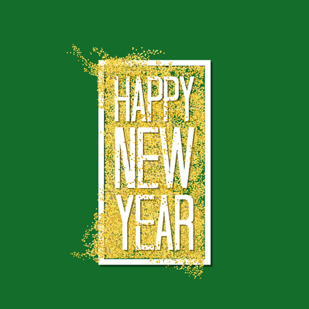 Happy New Year 2017 with confets greeting card. Vector illustration.