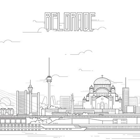 Belgrad Stadt mit ikonischen Gebäuden
