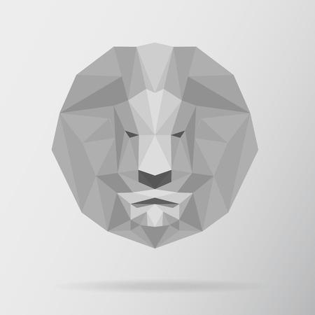 Leeuw dier laag poly ontwerp. Driehoek vectorillustratie. Vector Illustratie