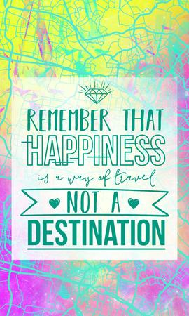 幸せ旅行のターゲットではない方法であることに注意してください。マップ背景にインスピレーションを引用。
