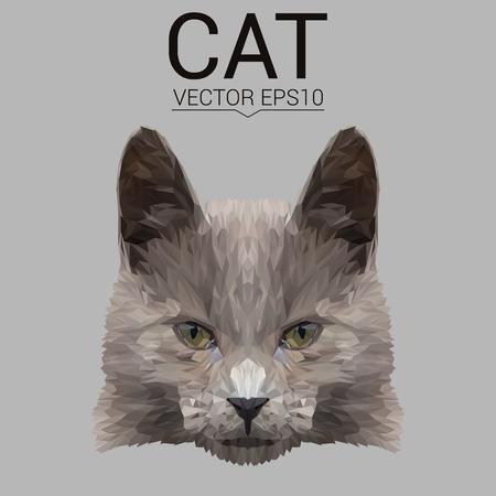 動物の低ポリ デザイン。  イラスト・ベクター素材