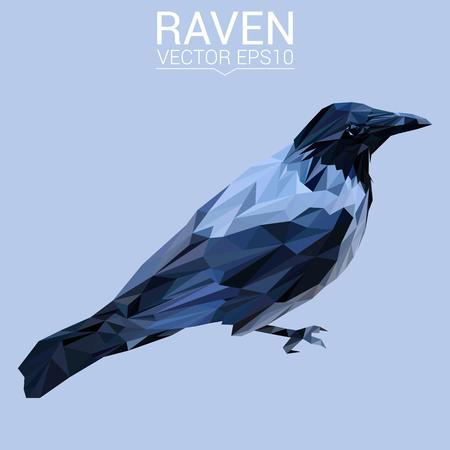 Raven Vogel niedrigen Poly-Design.