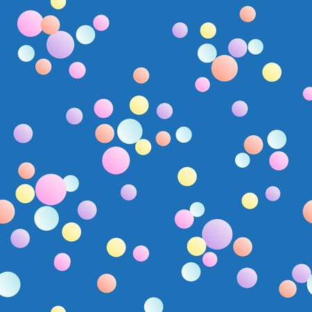 Seamless color pattern with multicolored confetti flying. Vector illustration.