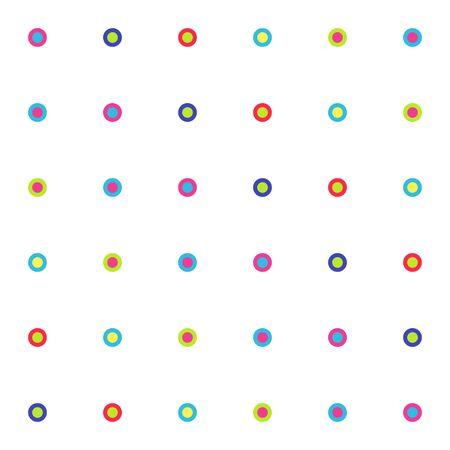 Seamless pattern of bright small circles on white background. Vector illustration geometric shapes. Vektorové ilustrace