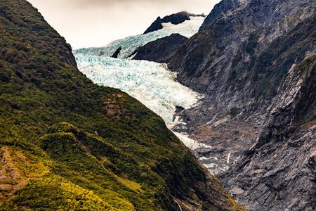 Millions of Years Old. Franz Josef Glacier Recedes Every Year Due to Climate Change
