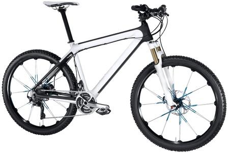 pedal: Mountain bike isolated on white background Stock Photo