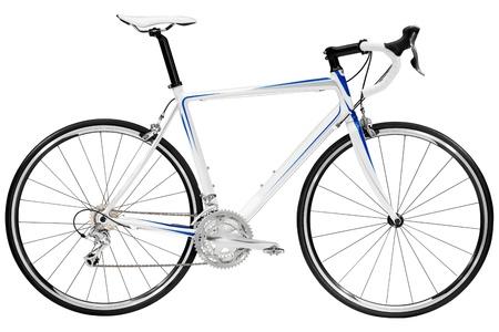 Race road bike isolated on white background  photo