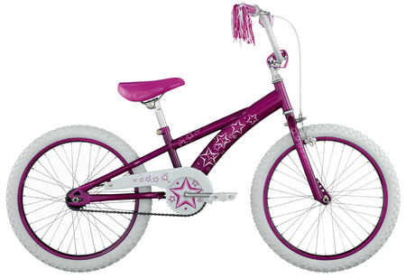 Children s bicycle isolated on a white background