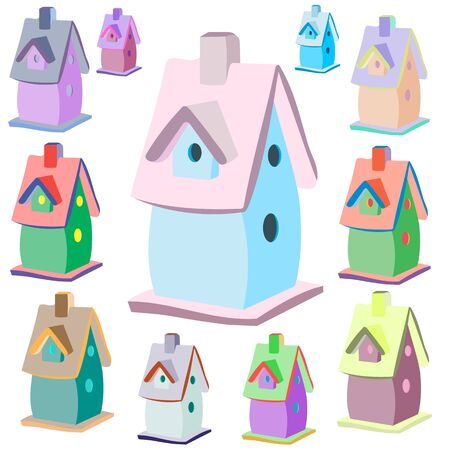 nesting box: Nesting box icon, cartoon style