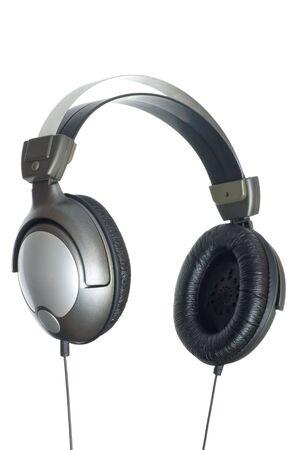 audifonos: Auriculares. Aislado en fondo blanco Foto de archivo