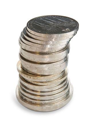 soviet union: Stack of Soviet Union coins.