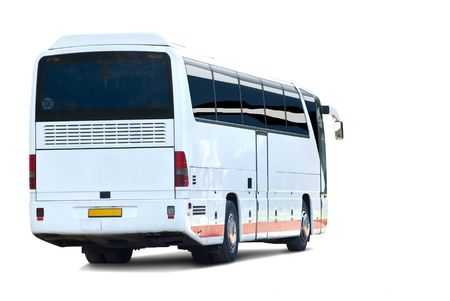 Tour bus. Isolated on white background