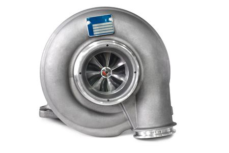 supercharger: Turbocharger. Isolated on white background.