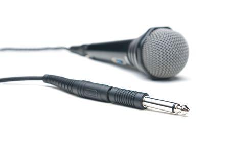 jackplug: Microphone. Isolated on white background.