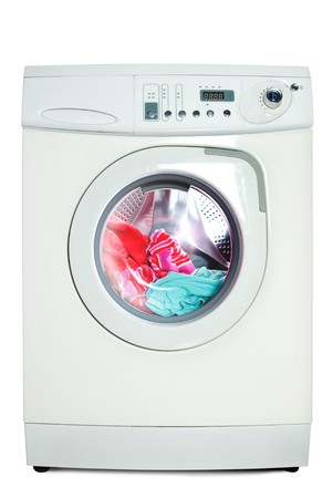 clothes washer: Arandela. Aislados sobre fondo blanco.