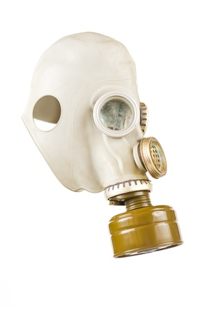Standart Soviet Union army gas mask. Isolated on white background. photo