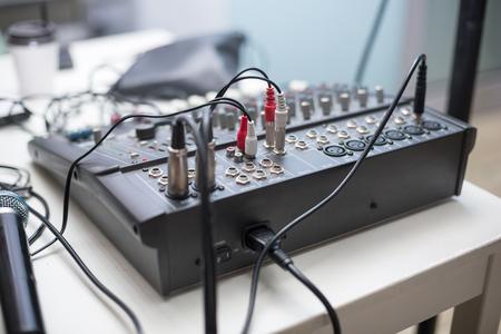 A shoot of DJ sound mixer