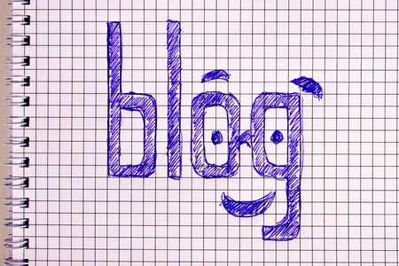 Text Blog made with a ballpoint pen in a notebook.