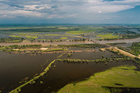 Flooding due to global climate change.