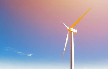 Windmill for electric power production. High quality photo 写真素材 - 158471580