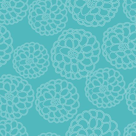 Turquoise floral texture, vector repeat pattern. Part of a collection of coordinating patterns.