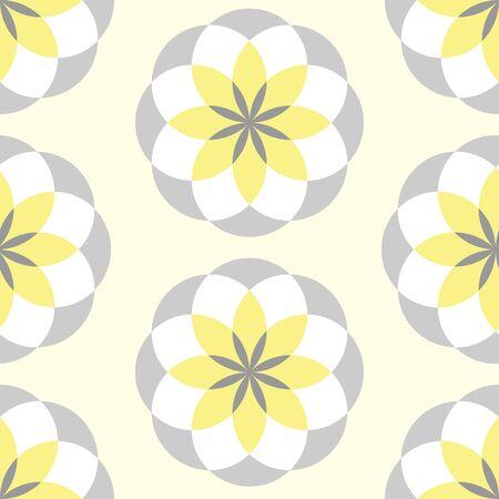 Geometric Flower vector repeat pattern.