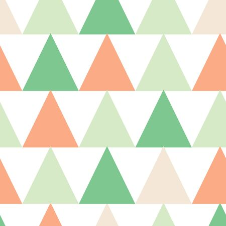 Triangle Vector Seamless Stock. Surface pattern in coral, mint and sage.
