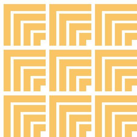 Abstract geometric corner block vector seamless pattern design. Simple design resembling stacked boxes. Illusztráció