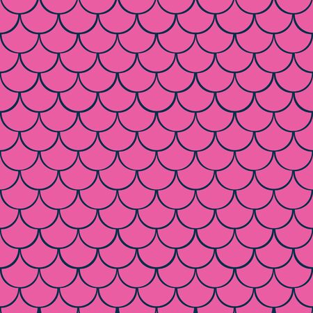 Mermaid Fish Scales vector seamless pattern. Fish scale surface pattern.