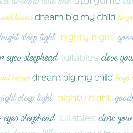 Night time words vector repeat pattern. Neutral gender good night text surface pattern.