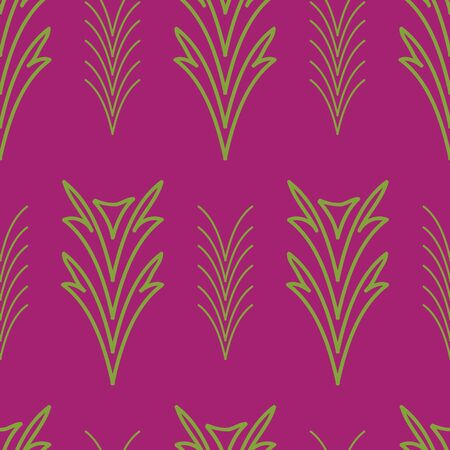 Abstract tropical flora vector seamless repeat pattern. Hand-drawn elements make up this unique pattern.