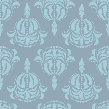 Vector Modern Hand Drawn Damask seamless repeat pattern. Perfect for textile, bedding, wallpaper.