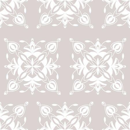 Modern Moroccan style tile element vector seamless pattern. Intricate hand drawn tile elements in brick pattern. Illusztráció