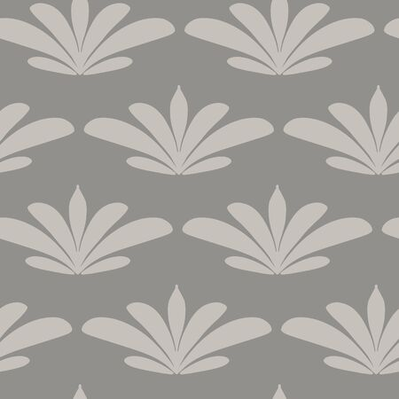 Tropical leaf neutral palette vector seamless repeat pattern. Nice patterns for textile and wallpaper.