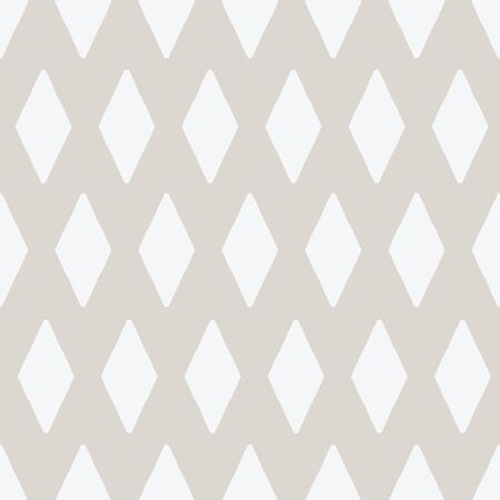 Simple hand drawn diamond repeat seamless vector pattern. Neutral farmhouse style pattern suitable for wallpaper, fabric and paper.