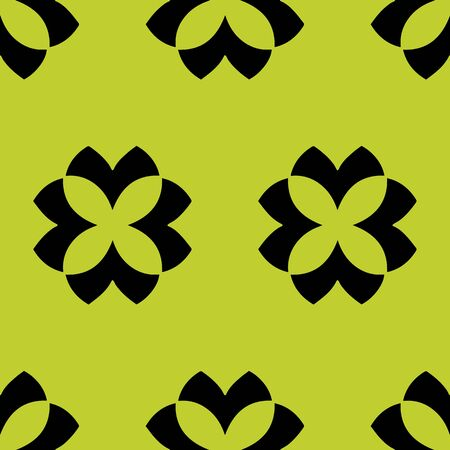 Chartreuse Minimalist floral element vector seamless repeat pattern. Perfect for an organic packaging look for anywhere you need a simple pattern with editable colors.