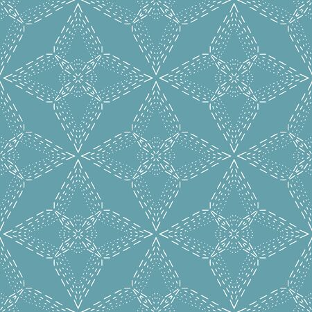 Diamond Stitch texture overlay vector seamless repeat pattern. Delicate, lacy hand drawn quilt look pattern can be used as an overlay to add interest to any design. Ilustração