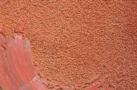 Red Sandpaper Background Stock Photo