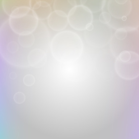 Abstract sparkles or glitter lights background. Water and air bubbles. De-focused circles bokeh lights or particles. Template for design. Vector illustration.