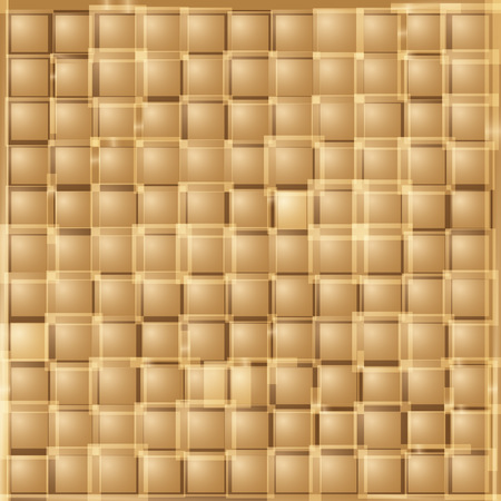 Abstract gold square background. Vector illustration of geometric texture