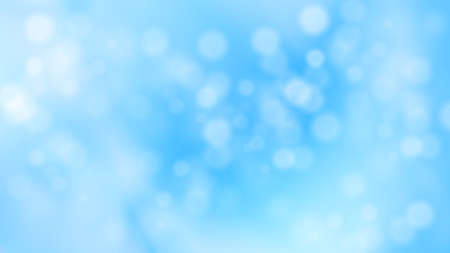 Christmas winter snowy blurred background. Abstract blue circular bokeh background. Vector illustration for Christmas and New Year cards, wallpapers.