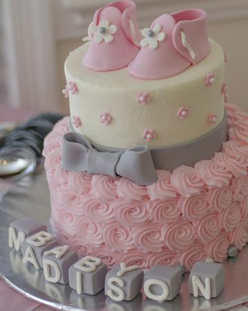 Baby Shower Cake Reklamní fotografie